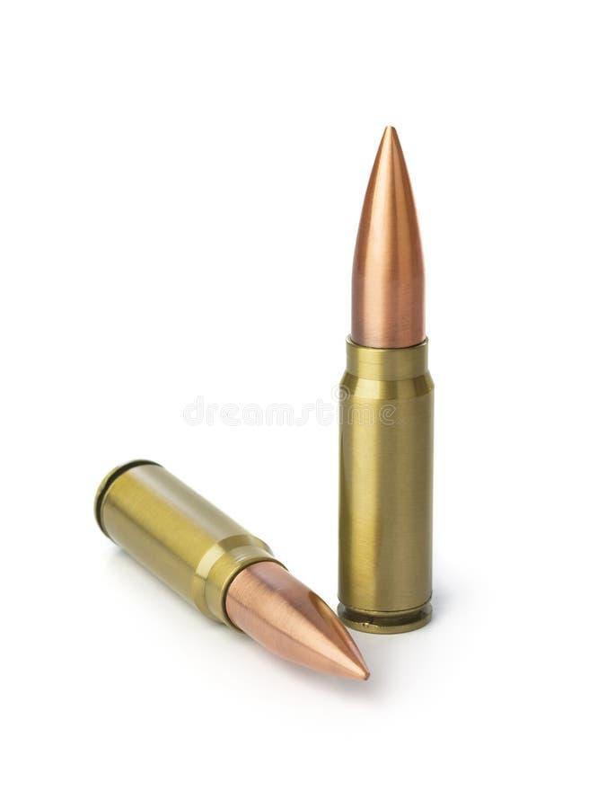 Dos balas imagen de archivo