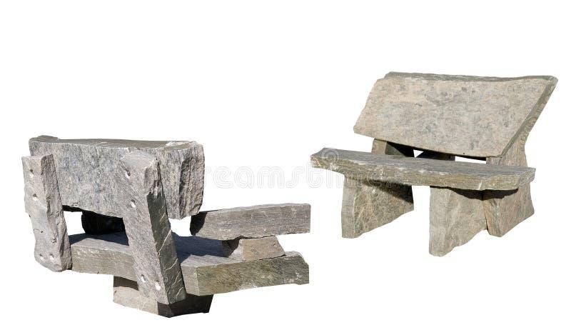 Dos bancos del granito del muskoka fotos de archivo