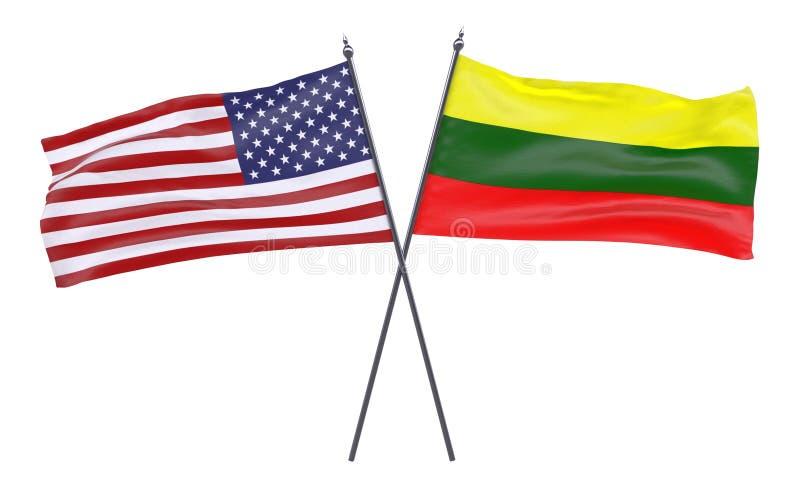 Dos banderas cruzadas libre illustration
