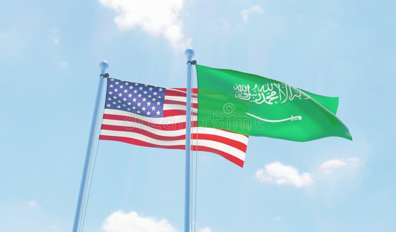 Dos banderas que agitan libre illustration