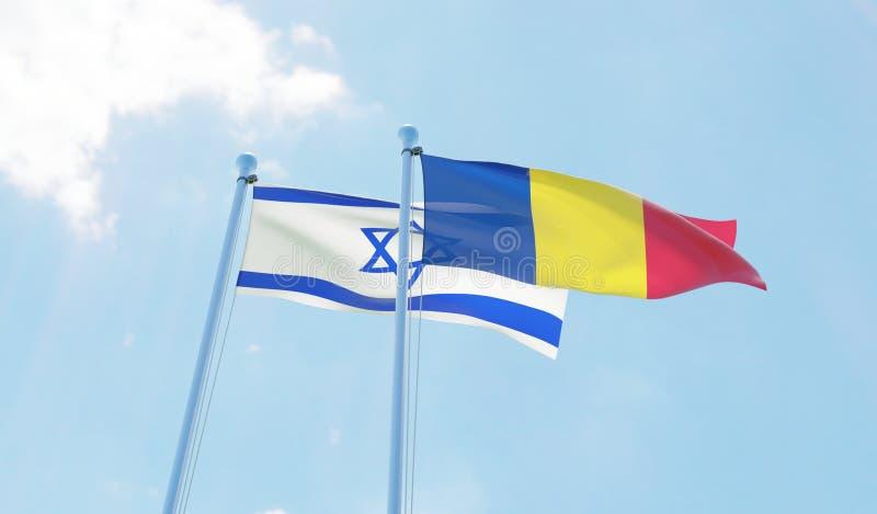 Dos banderas que agitan ilustración del vector