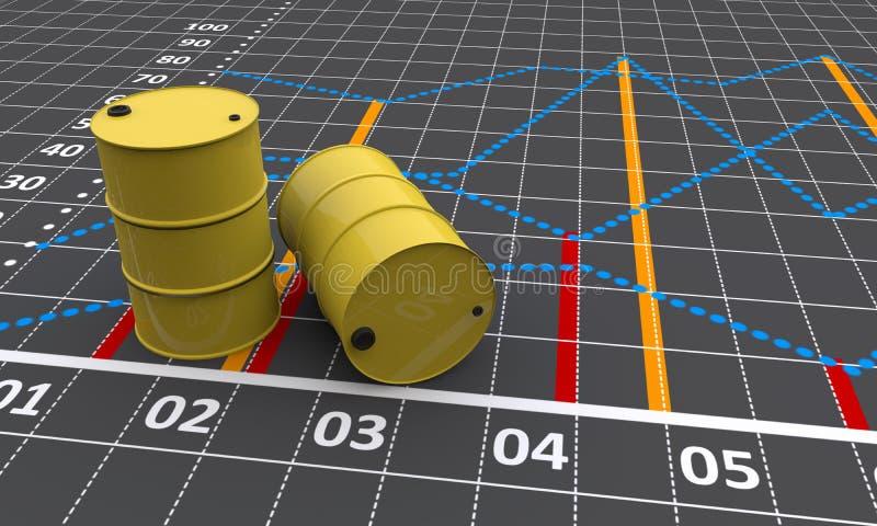 Dos barriles stock de ilustración