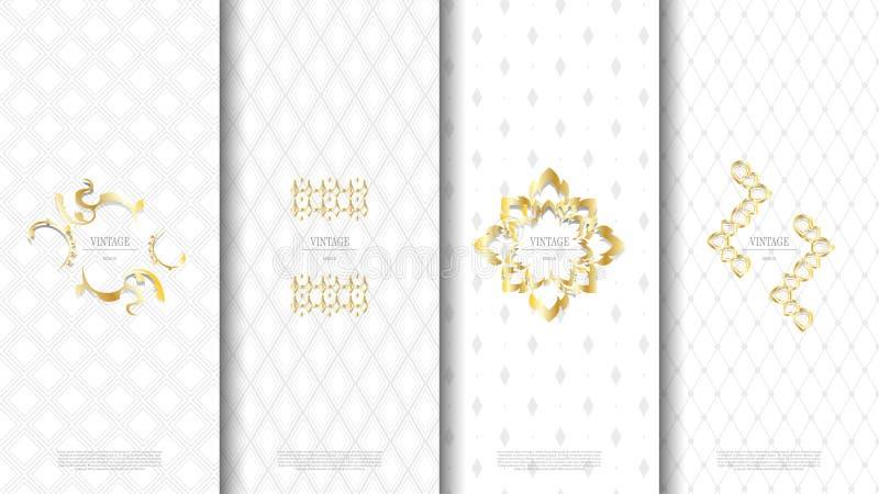 Dos blanc de empaquetage de vintage de modèle de concept thaïlandais exotique d'élément illustration libre de droits