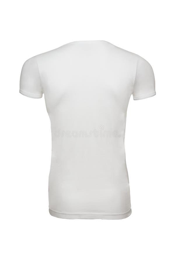 Dos blanc de T-shirt illustration stock