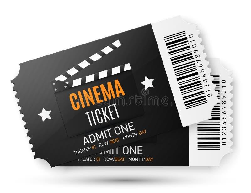 Dos boletos del cine aislados en fondo transparente Modelo del vector libre illustration