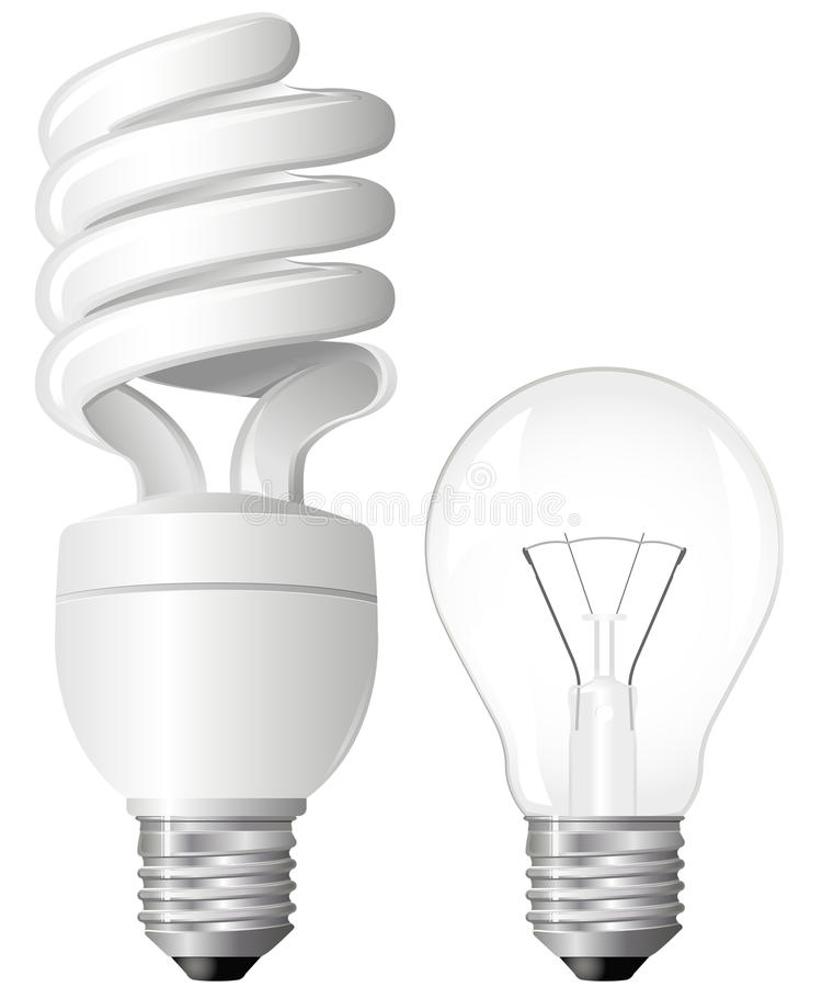 Dos bombillas libre illustration