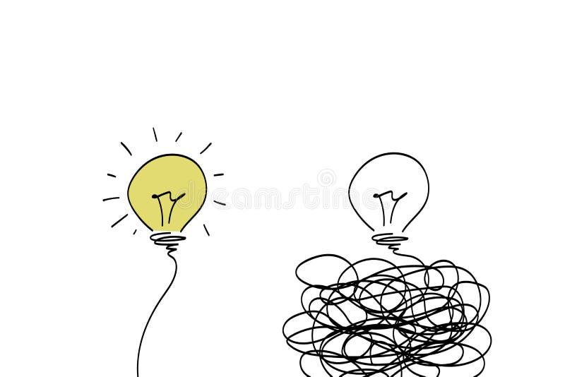 Dos bombillas, soluciones fotos de archivo