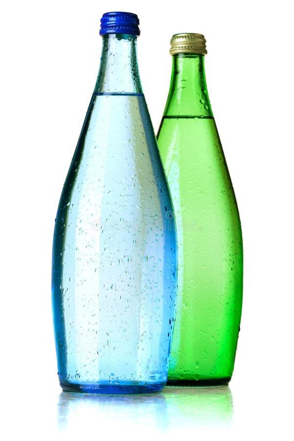 Dos botellas de agua de soda foto de archivo libre de regalías