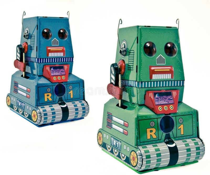Dos bots retros de la lata fotografía de archivo libre de regalías