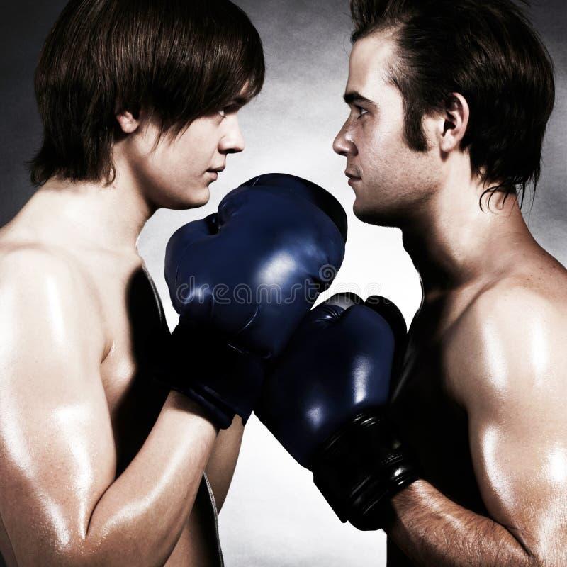 Dos boxeadores fotos de archivo libres de regalías