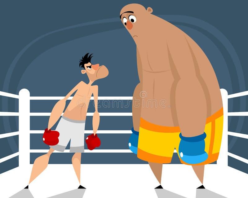 Dos boxeadores en el anillo fotos de archivo libres de regalías