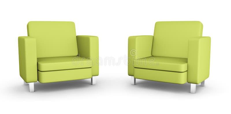 Dos butacas verdes libre illustration