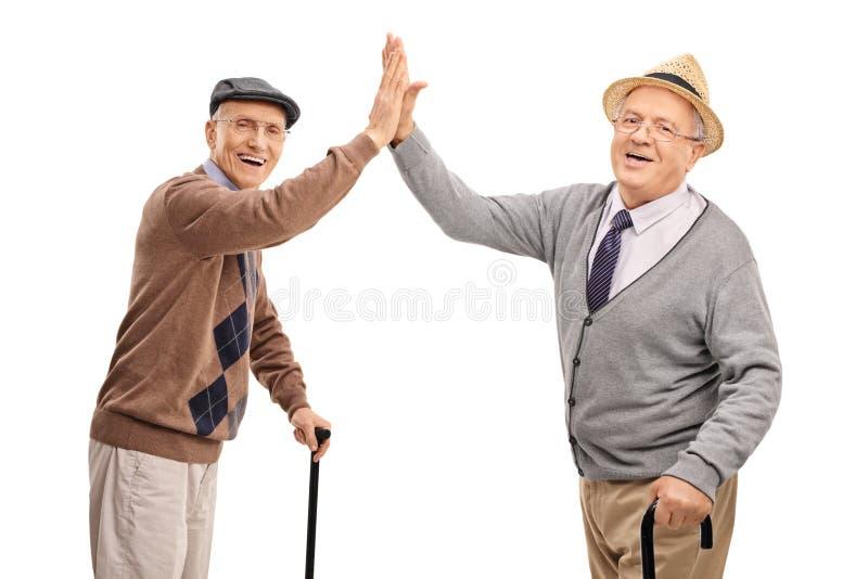 Dos caballeros mayores altos-cinco imagen de archivo
