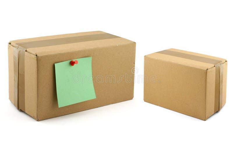 Dos cajas de cartón imagen de archivo libre de regalías