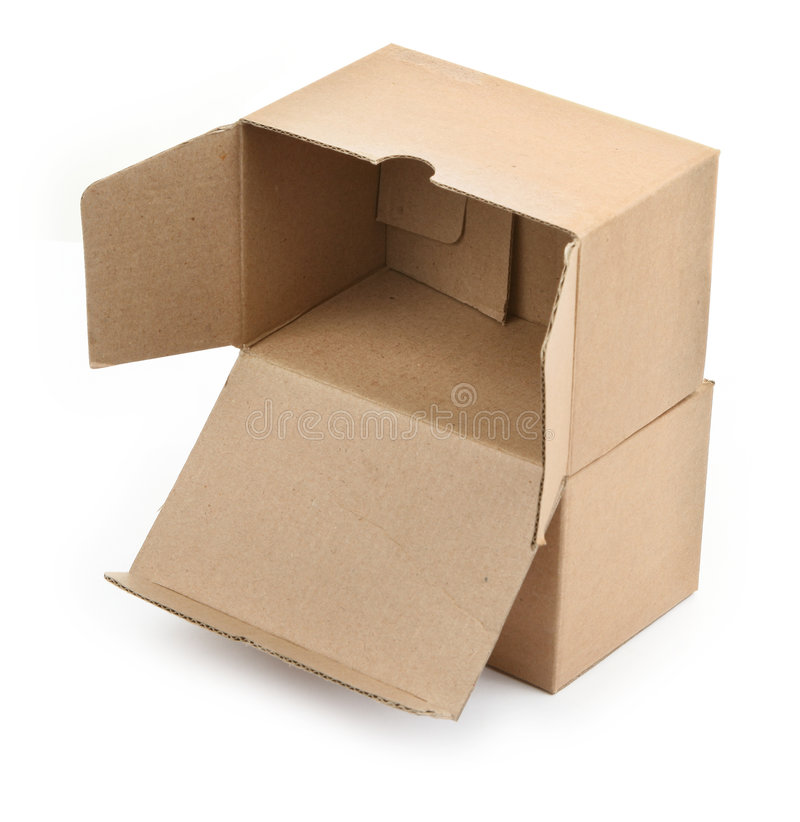 Dos cajas de cartón fotografía de archivo