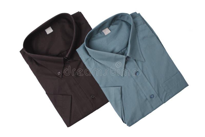 Dos camisas del color oscuro foto de archivo libre de regalías