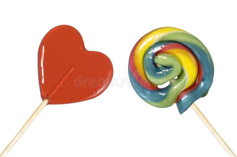Dos caramelos deliciosos fotos de archivo