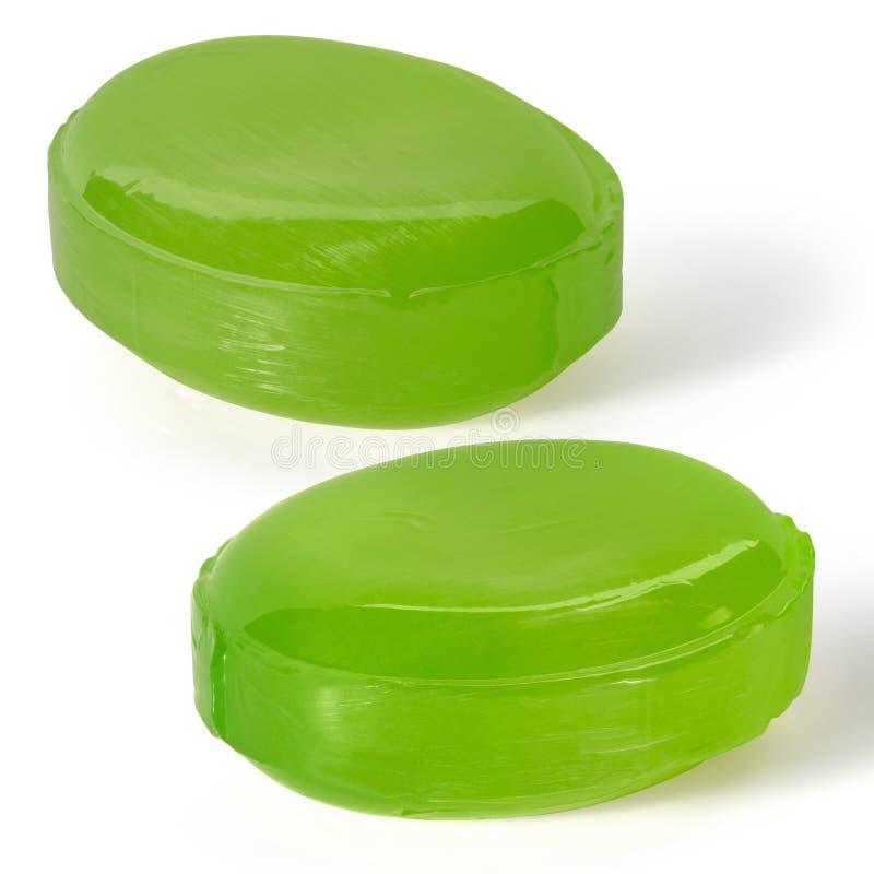 Dos caramelos verdes de la duquesa fotografía de archivo libre de regalías