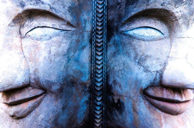 Dos caras Buda imagen de archivo libre de regalías