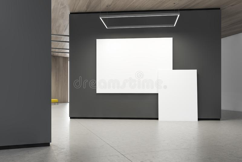 Dos carteles en la pared gris de la galería libre illustration