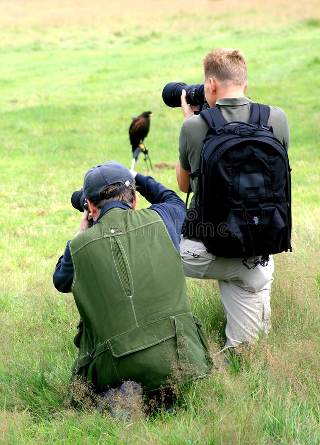 Dos cazadores de aves fotografía de archivo libre de regalías