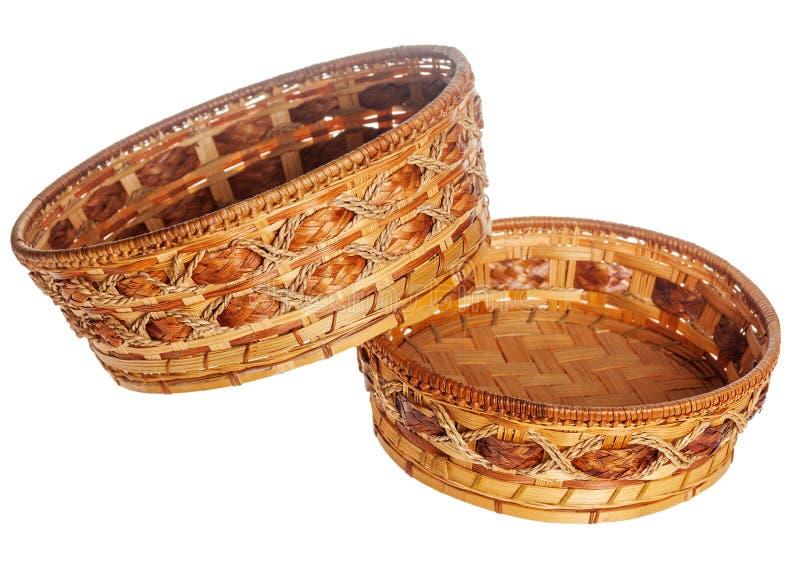 Dos cestas de madera foto de archivo libre de regalías
