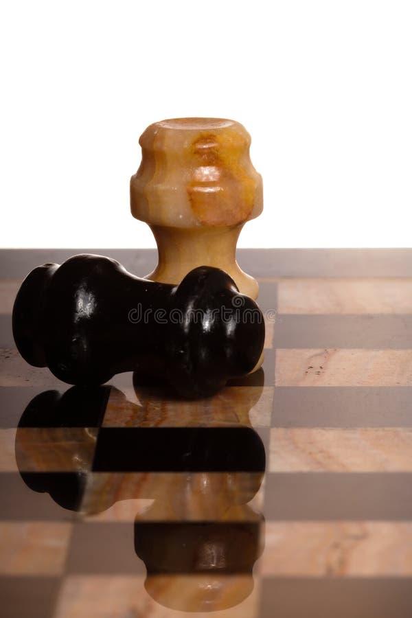 Dos chessmans imágenes de archivo libres de regalías