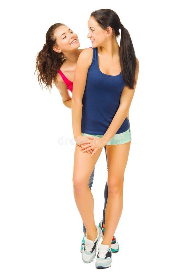 Dos chicas jóvenes deportivas imagenes de archivo
