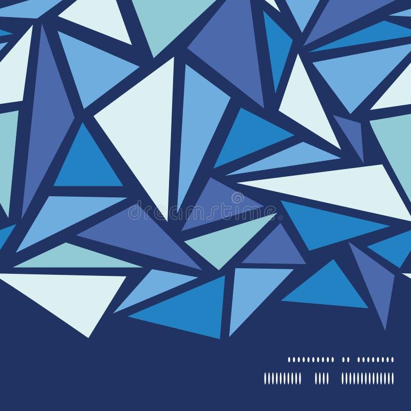 Dos chrystals abstratos do gelo do vetor quadro horizontal ilustração royalty free