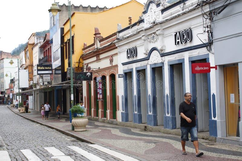 DOS colonial Reis d'Angra de ville au Brésil photo stock