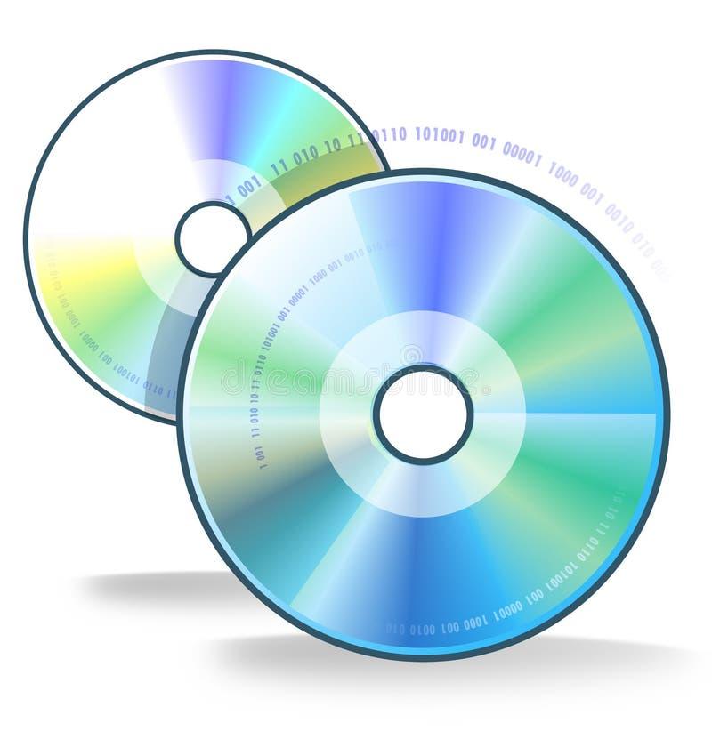 Dos compact-disc stock de ilustración