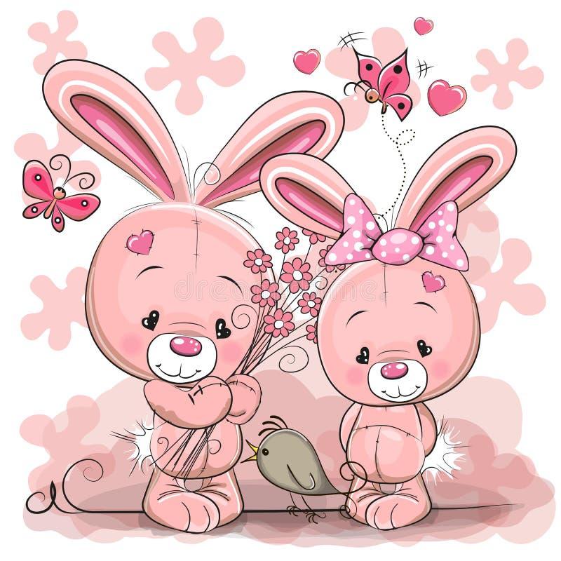Dos conejos libre illustration