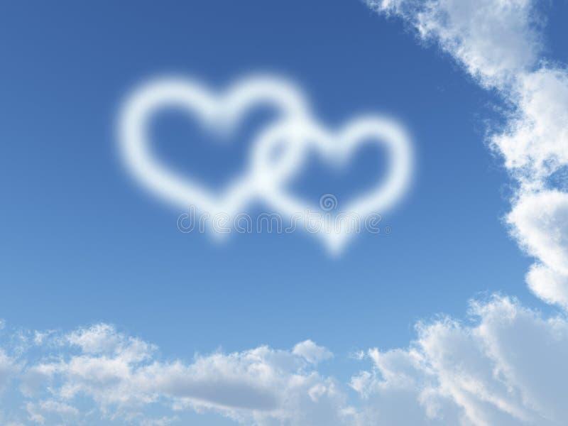 Dos corazones libre illustration