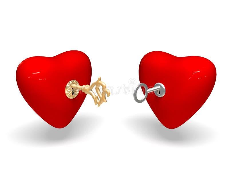 Dos corazones. stock de ilustración