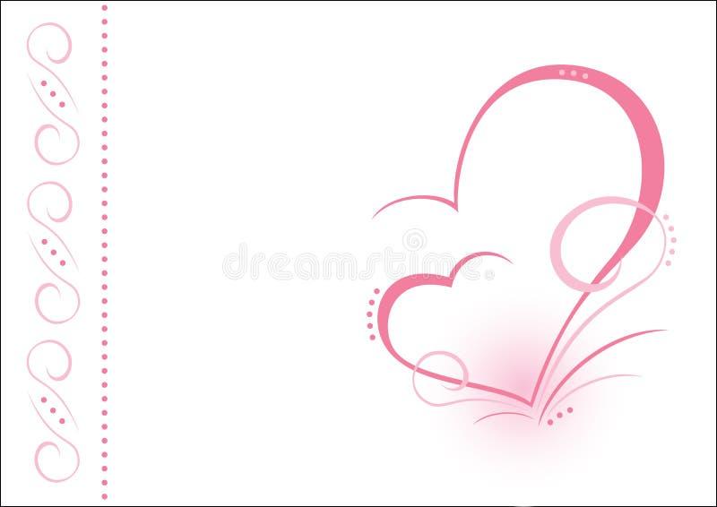 Dos corazones. AI foto de archivo