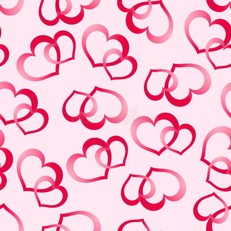 Dos corazones rosados libre illustration