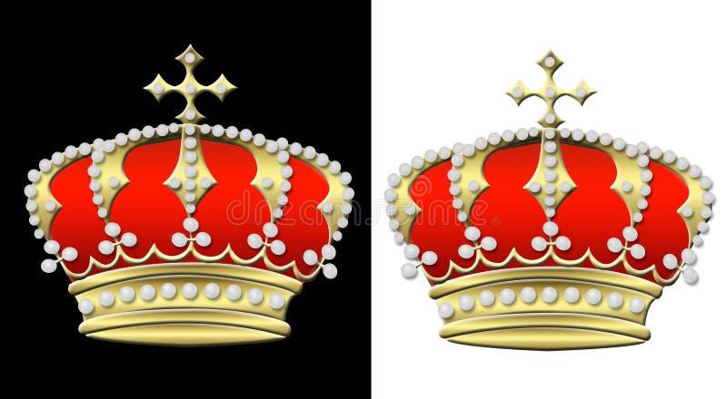 Dos coronas ilustración del vector