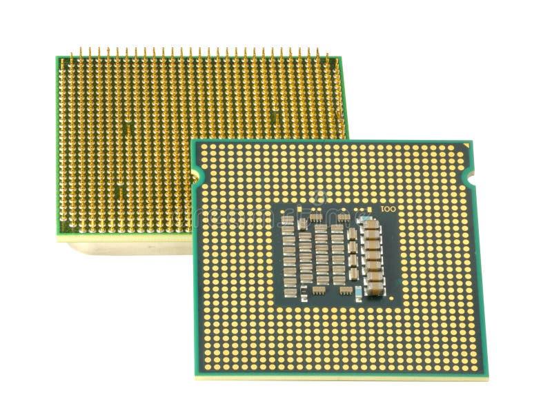 Dos CPU, DoF hiperactivo. imagenes de archivo