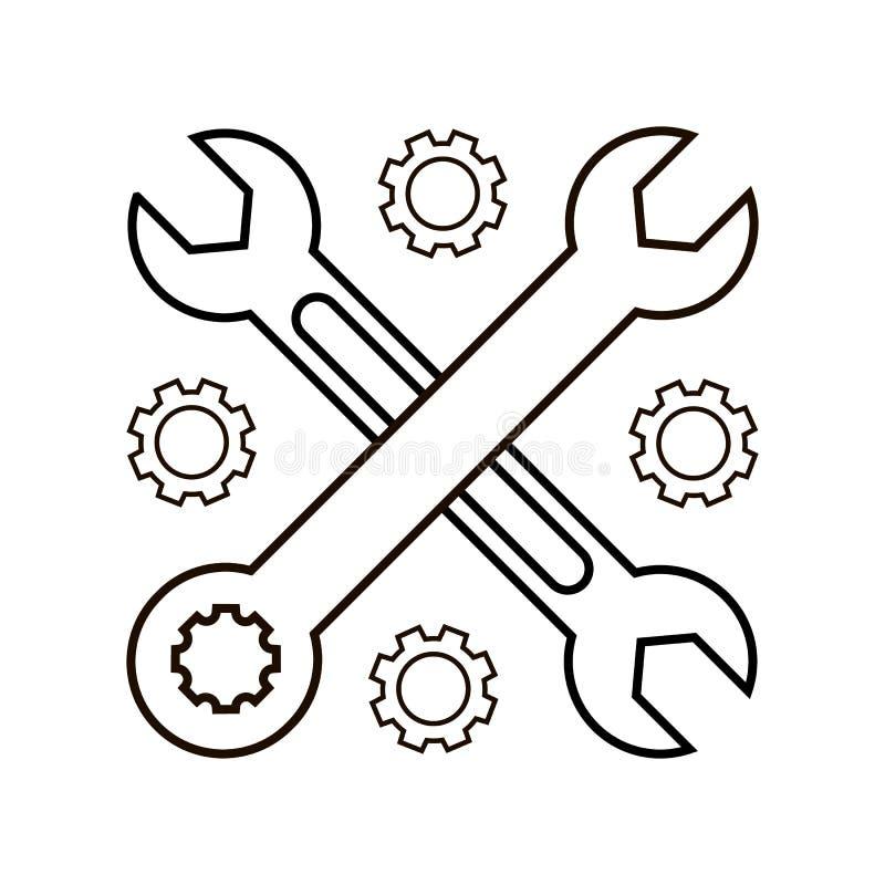 Dos cruzaron el icono del vector de las llaves ilustración del vector