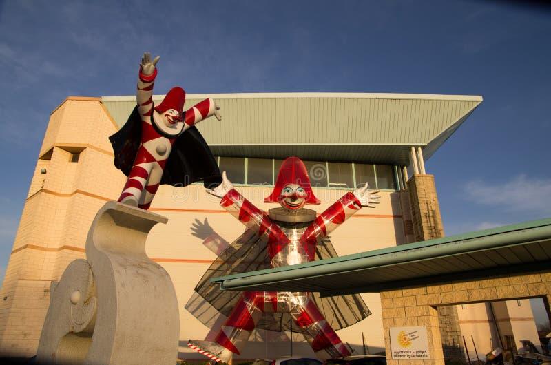 Dos días en principio de s del carnaval de Viareggio ' fotografía de archivo