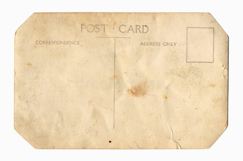 Dos de carte postale de cru image libre de droits