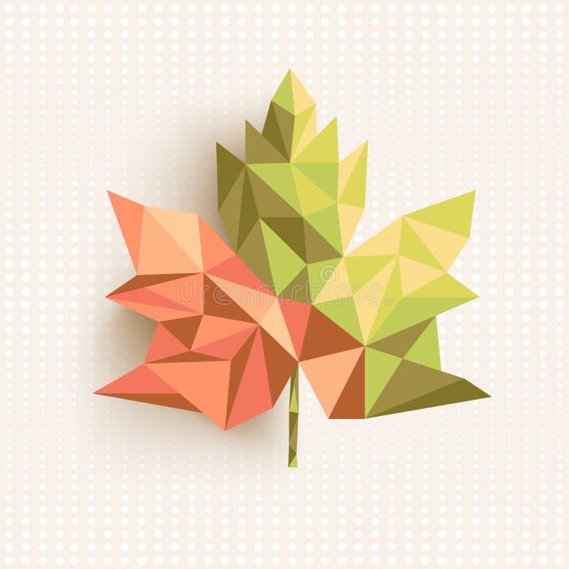 Dos de concept de composition en feuille de triangle d'automne illustration libre de droits