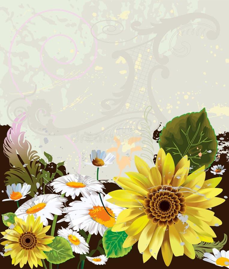 Dos de fleur illustration libre de droits