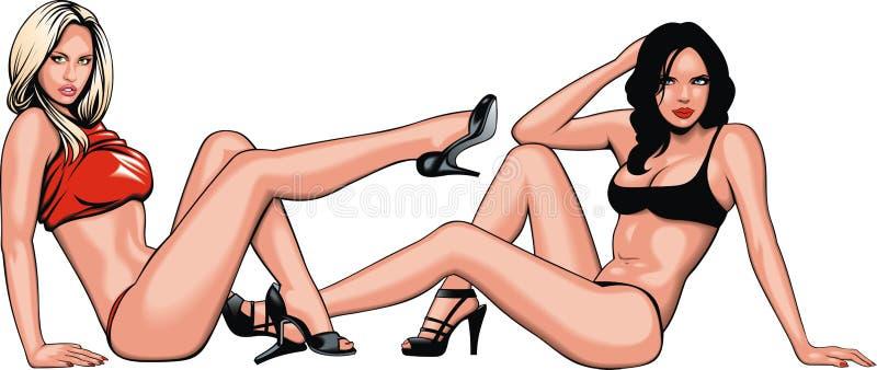 Dos de muchachas de mi sueño libre illustration