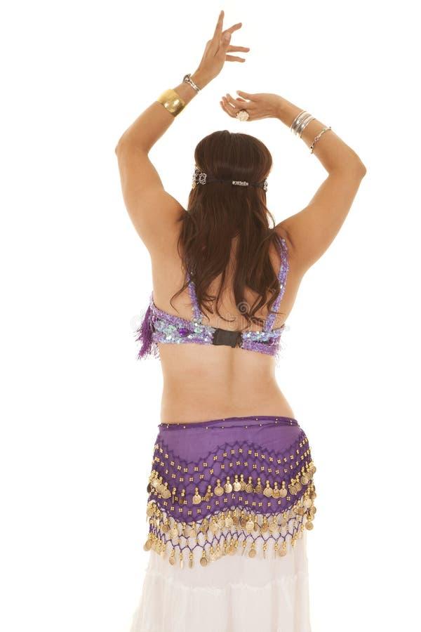 Dos de pourpre de danseuse du ventre photographie stock libre de droits