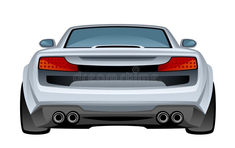 Dos de voiture illustration de vecteur