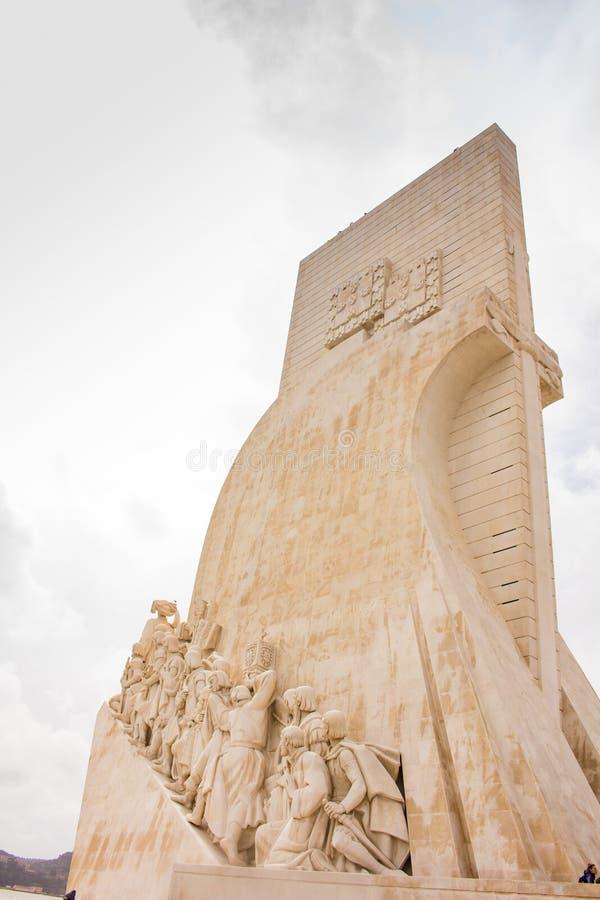 DOS Descobrimentos - monumento de descubrimientos, Lisboa de Padrão imagen de archivo libre de regalías