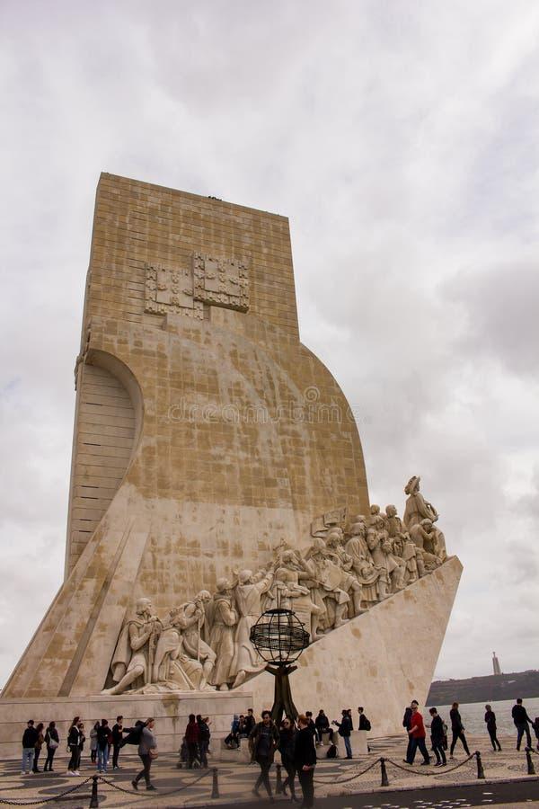 DOS Descobrimentos - monumento delle scoperte, Lisbona di Padrao fotografia stock libera da diritti
