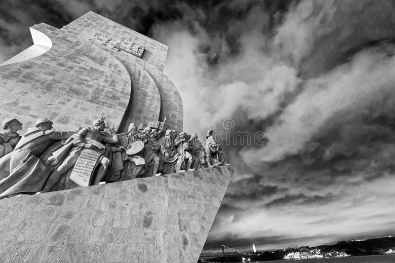 Dos Descobrimentos Pedrao вечером Это памятник который ded стоковое фото