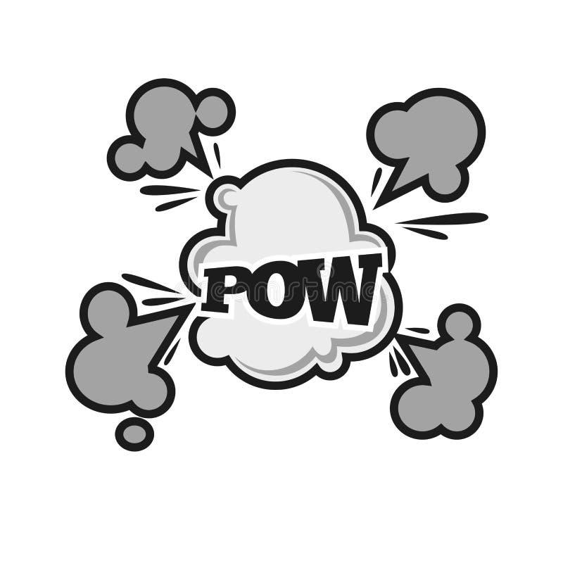 Dos desenhos animados cômicos do vetor da nuvem do balst do som da bolha do prisioneiro de guerra ícone liso do texto ilustração do vetor